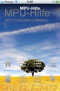 """MPU App """"MPU-Hilfe"""" - Screenshot 1"""