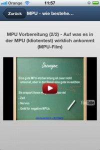 """MPU App """"MPU-Hilfe"""" - Screenshot 2"""